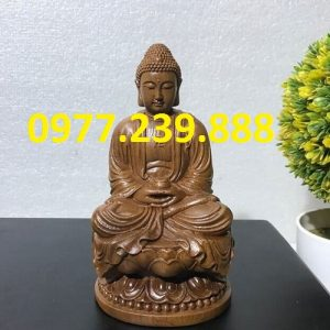 tuong phat thich ca go bach xanh 30cm