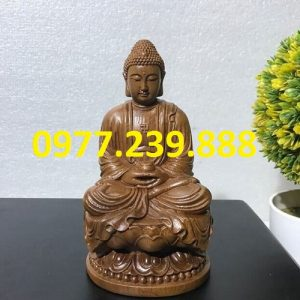 tuong phat thich ca go bach xanh 40cm