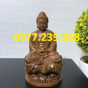 tuong phat thich ca go bach xanh25m