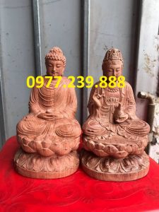 tuong phat thich ca go huong 15cm