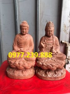 tuong phat thich ca go huong 30cm