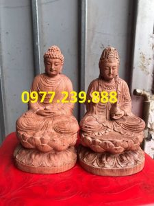 tuong phat thich ca go huong 60cm