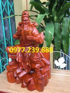 Tượng Quan Công - Quan Vân Trường bằng gỗ đẹp nhất