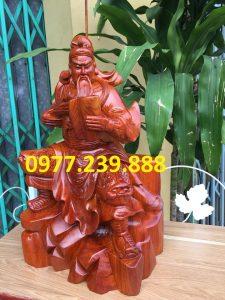 Tượng quan công quan vân trường bằng gỗ hương 30cm