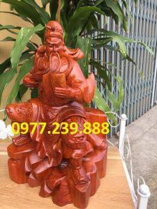 Tượng quan công quan vân trường bằng gỗ hương 50cm - Copy