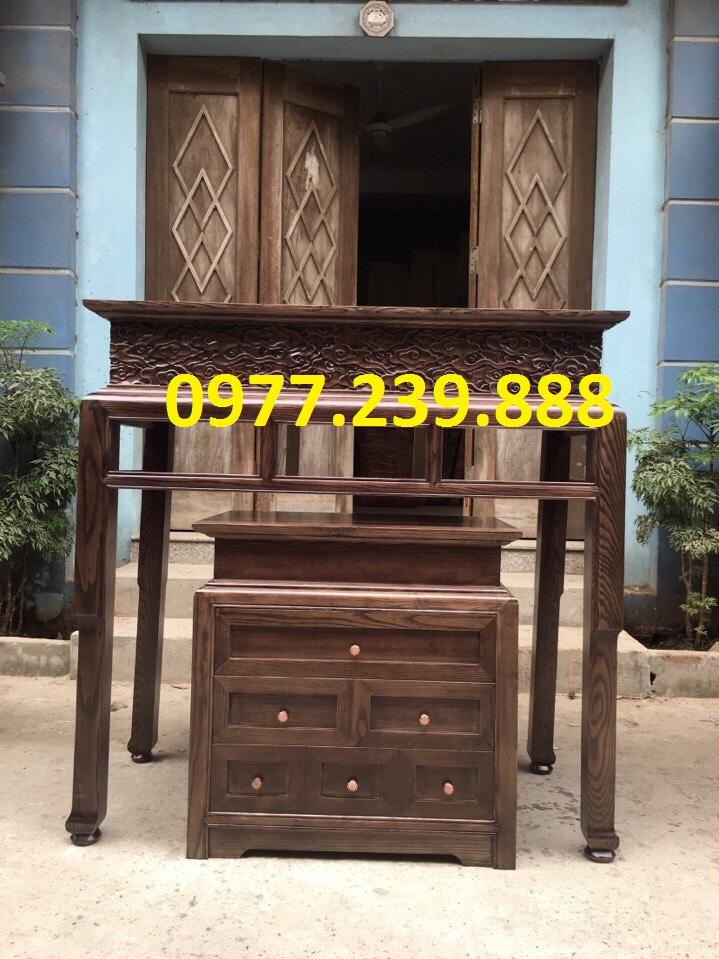 mẫu bàn thờ bằng gỗ gụ