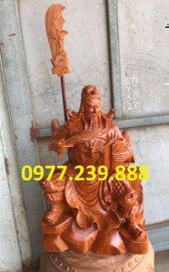 tượng quan công gỗ hương ngồi đọc sách bằng gỗ hương 40cm