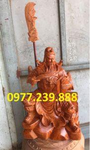 tượng quan công gỗ hương ngồi đọc sách bằng gỗ hương 50cm