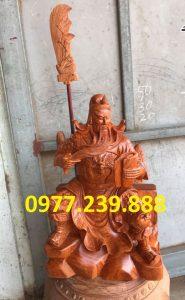 tượng quan công gỗ hương ngồi đọc sách gỗ hương cao 30cm