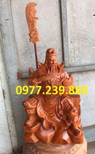 tượng quan công gỗ hương ngồi đọc sách gỗ hương cao 40cm