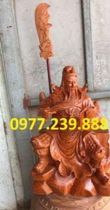 tượng quan công gỗ hương ngồi đọc sách gỗ hương cao 50cm