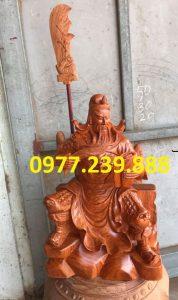 tượng quan công gỗ hương ngồi đọc sách gỗ hương cao 60cm