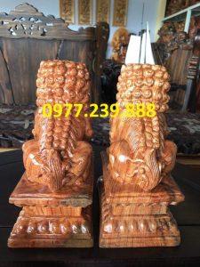 đôi kỳ lân gỗ hương giá rẻ