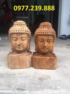 đầu tượng phật bằng gỗ bách xanh giá gốc