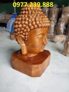 đầu tượng phật gỗ bách xanh