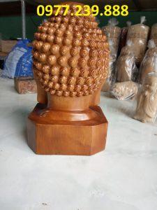 Diện Phật gỗ bách xanh cao 30cm