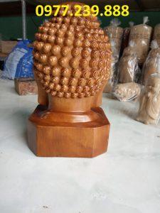 Diện Phật gỗ bách xanh cao 40cm