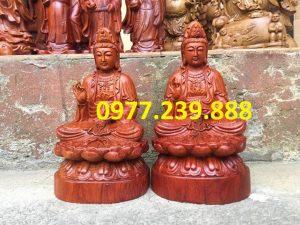 Phật bà quan âm bằng gỗ hương ta