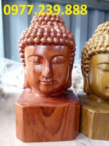 bán diện phật gỗ hương đá