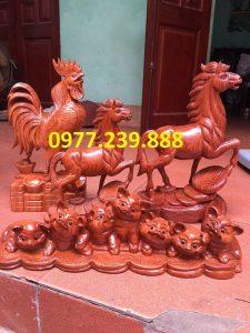 bán gà trống bằng gỗ 60cm