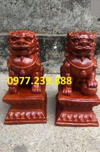 bán tượng cặp kỳ lân bằng gỗ