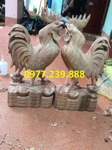 bán tượng gà bằng gỗ hương