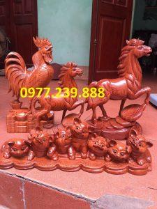 bán tượng gà gỗ