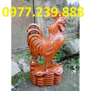 bán tượng gà gỗ hương