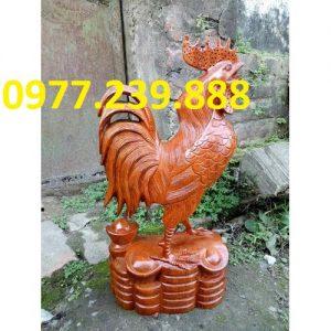 bán tượng gà trống gỗ 60cm