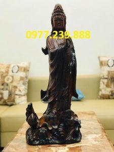 bán tượng quan âm gỗ mun 70cm