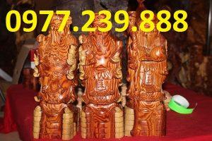 bán tượng tam đa bằng gỗ trắc dây