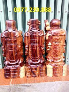 bộ tượng phúc lộc thọ bằng gỗ trắc