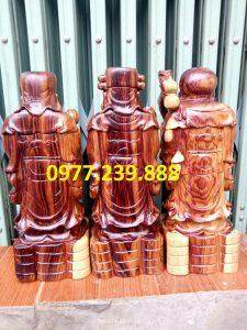 bộ tượng phúc lộc thọ gỗ trắc