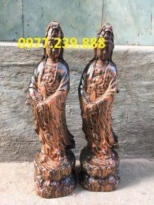 ban tuong phat ba dung bang go trac 70cm