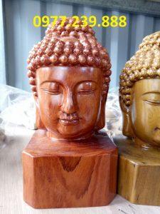 diện phật bằng gỗ hương 30cm