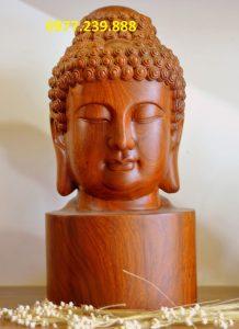 diện phật bằng gỗ hương 40cm
