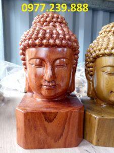 diện phật gỗ hương 40cm