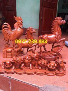 gà phong thủy gỗ hương giá gốc