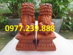 kỳ lân gỗ phong thủy tài lộc gỗ hương