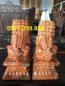 kỳ lân phong thủy bằng gỗ hương