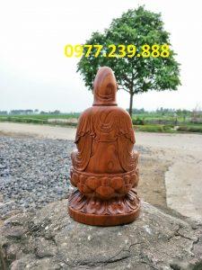 quan âmbồ tát bằng gỗ bách xanh 80cm