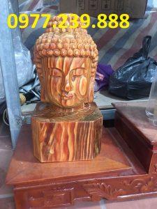 tượng Diện Phật bằng bách xanh 40cm