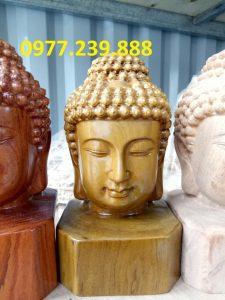tượng Diện Phật bằng bách xanh cao 20cm