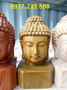 tượng Diện Phật bằng bách xanh cao 30cm