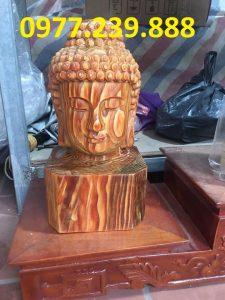 tượng Diện Phật bằng bách xanh cao 40cm
