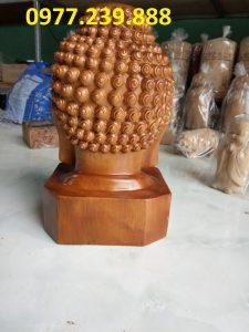tượng Diện Phật bằng gỗ bách xanh cao 30cm