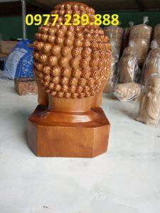 tượng Diện Phật gỗ bách xanh cao 30cm