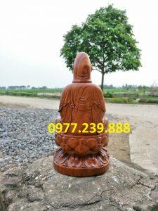 tượng bồ tát gỗ bách xanh 15cm