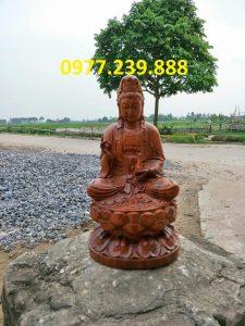 tượng bồ tát gỗ bách xanh 30cm
