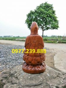 tượng bồ tát gỗ bách xanh 40cm